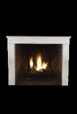 Timeless Vintage White Limestone Fireplace Surround