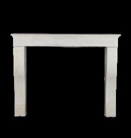 Antike Kaminmaske aus weißem Kalkstein