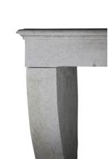 Marco De Chimenea De Piedra Caliza Blanca Vintage Atemporal