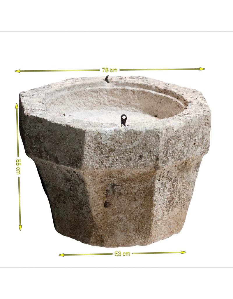 The Antique Fireplace Bank 16Th Century Baptism Font