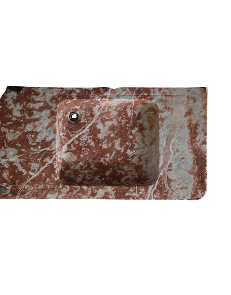 Luxury Lifestyle Sink In Rouge Languedoc Marble