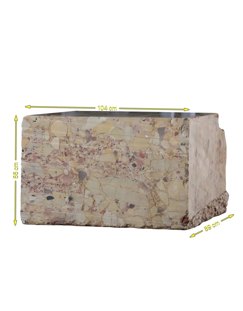 The Antique Fireplace Bank 18Th Century Bloc Brêche D'Alleppe Marble