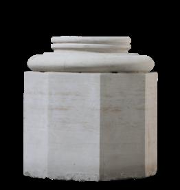The Antique Fireplace Bank Limestone Column Base