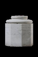 Kalksteinsäulenbasis