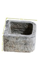 The Antique Fireplace Bank Belgian Black Marble Stone Trough