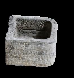 Antike Belgischer schwarzer Antike Marmorsteintrog