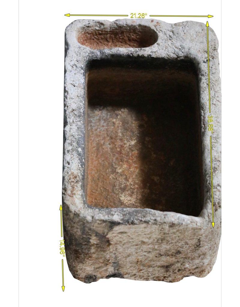 Maison Leon Van den Bogaert Antique Fireplaces & Vintage Architectural Elements Fregadero Estilo Granja Francés En Piedra Caliza Dura