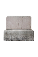 The Antique Fireplace Bank Bloc In French Burgundy Hard Limestone