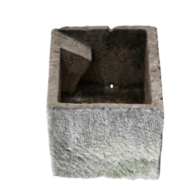 The Antique Fireplace Bank Waterbassin In Hard Limestone