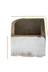 Comedero De Esquina Recuperado En Piedra Caliza