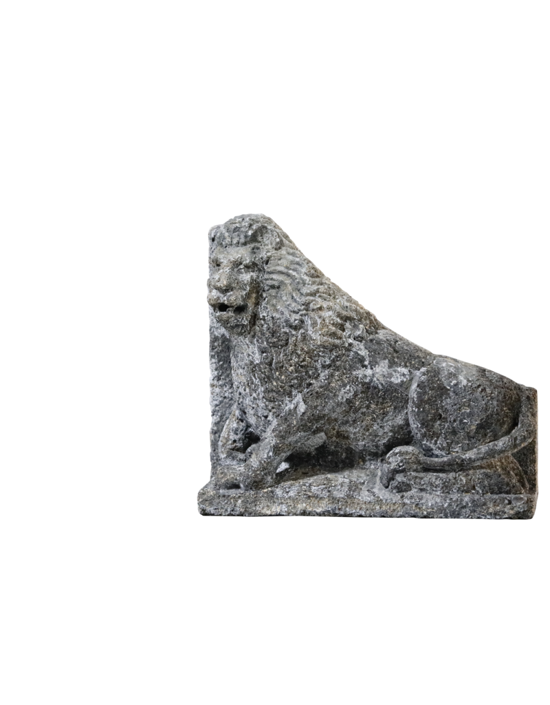 The Antique Fireplace Bank Antique Pair Of Limestone Lions