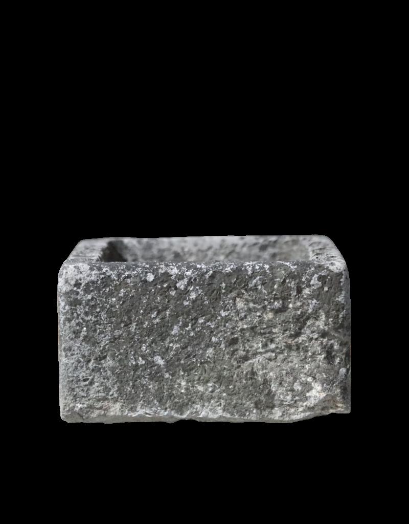 Comedero Rústico Francés De Piedra Caliza