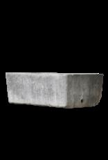 Gran Comedero De Piedra Antiguo Francés