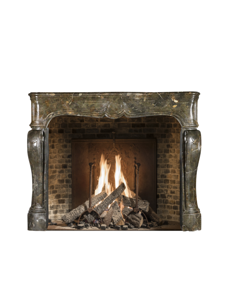 The Antique Fireplace Bank 17Th Century Chique French Antique Fireplace Surround In Dark Fossil Stone