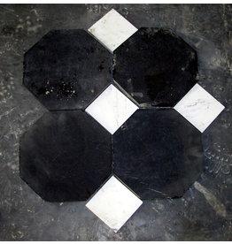 The Antique Fireplace Bank Suelo de mármol negro belga