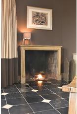 The Antique Fireplace Bank Antike Schwarzer Belgischer Marmor Böden