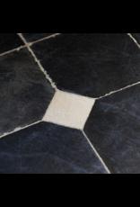 Antike Schwarzer Belgischer Marmor Böden