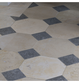 The Antique Fireplace Bank French Octagonal Marble And Stone Mix Floor Tiles