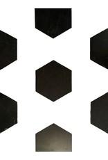 Antike Schwarzer Belgischer Marmor Geschnitten Böden