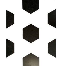 Corte Dalles de mármol belga negro antiguo para mezclar con otro color