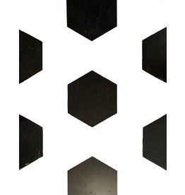 Maison Leon Van den Bogaert Antique Fireplaces & Vintage Architectural Elements Corte Dalles de mármol belga negro antiguo para mezclar con otro color