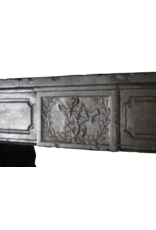 Zeitloses Chique Antik Französisch Stein Kamin