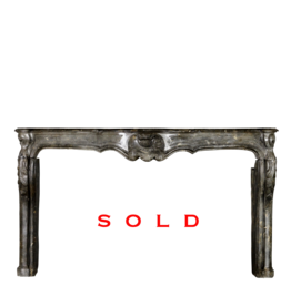 French 18Th Century Period Fireplace Surround In Fossil Stone