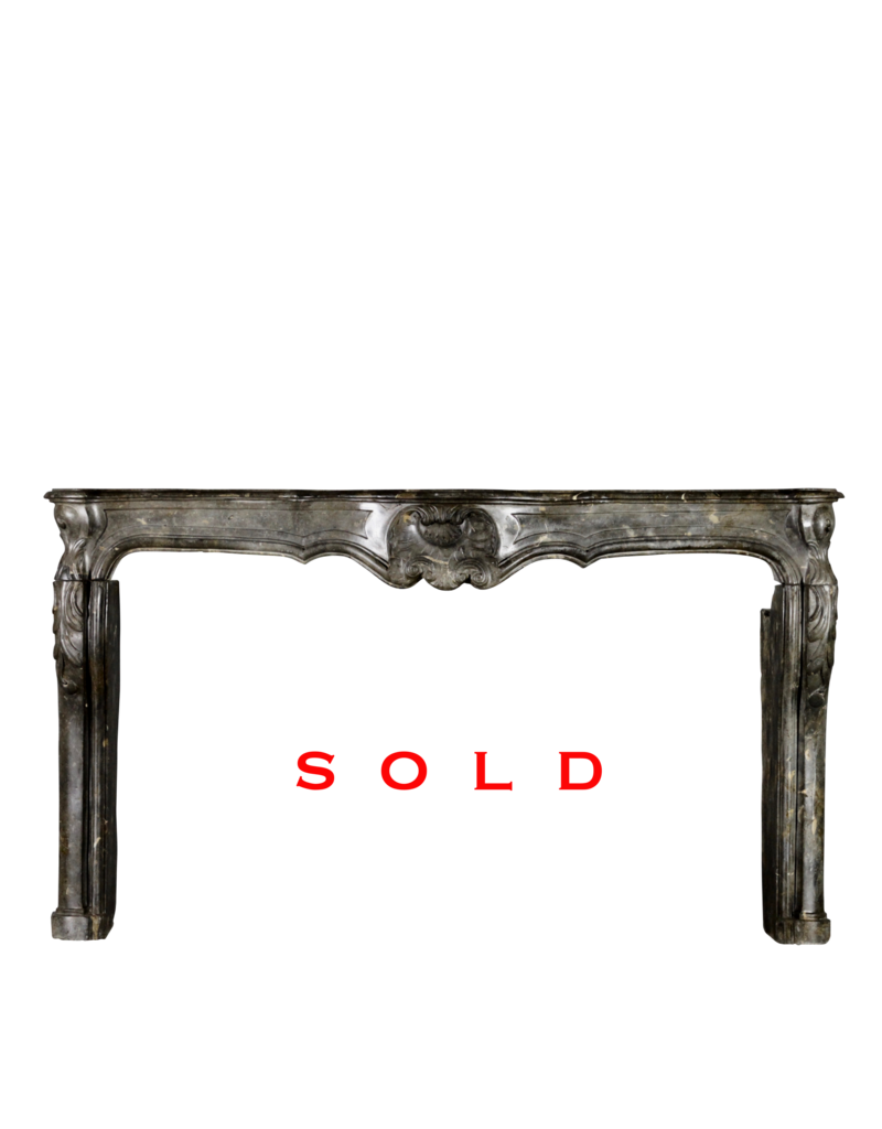 The Antique Fireplace Bank French 18Th Century Period Antique Fireplace Surround In Fossil Stone