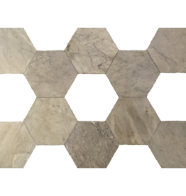 Hexagonale Cut Antique Marble Dalles To Mix With Other Colour