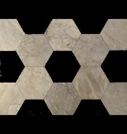 Maison Leon Van den Bogaert Antique Fireplaces & Vintage Architectural Elements Corte Hexagonale Dalles de mármol para mezclar con otro color