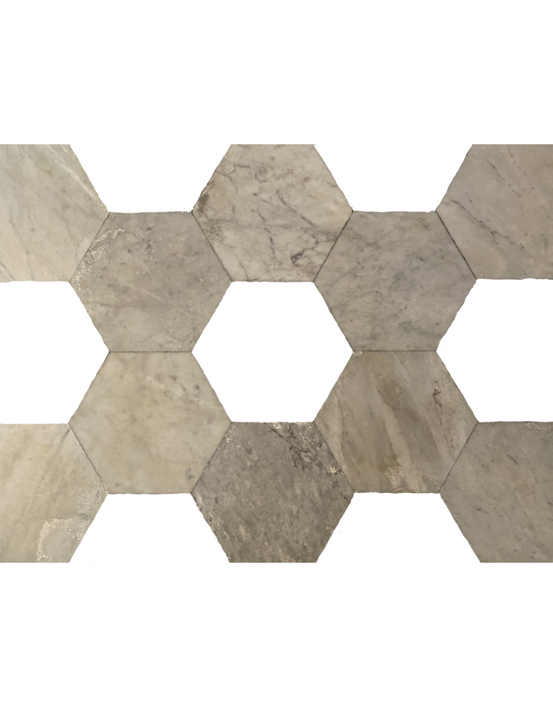 Antike Marmor Hexagonal Geschnitten Böden