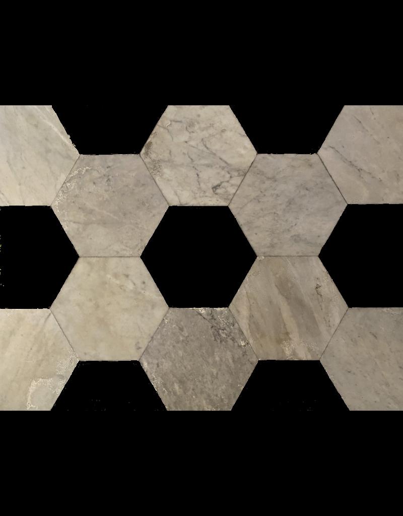 The Antique Fireplace Bank Antike Marmor Hexagonal Geschnitten Böden