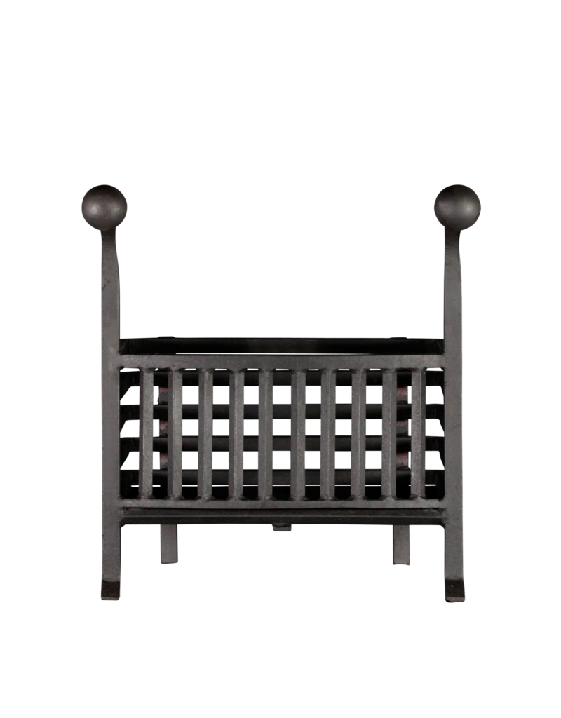 The Antique Fireplace Bank Coal And Wood Basket In Wrought Iron