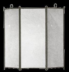 Pantalla De Chimenea Rústica De 3 Paneles Con Pátina