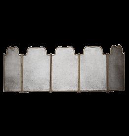 Pantalla De Chimenea Rústica De 5 Paneles Con Pátina