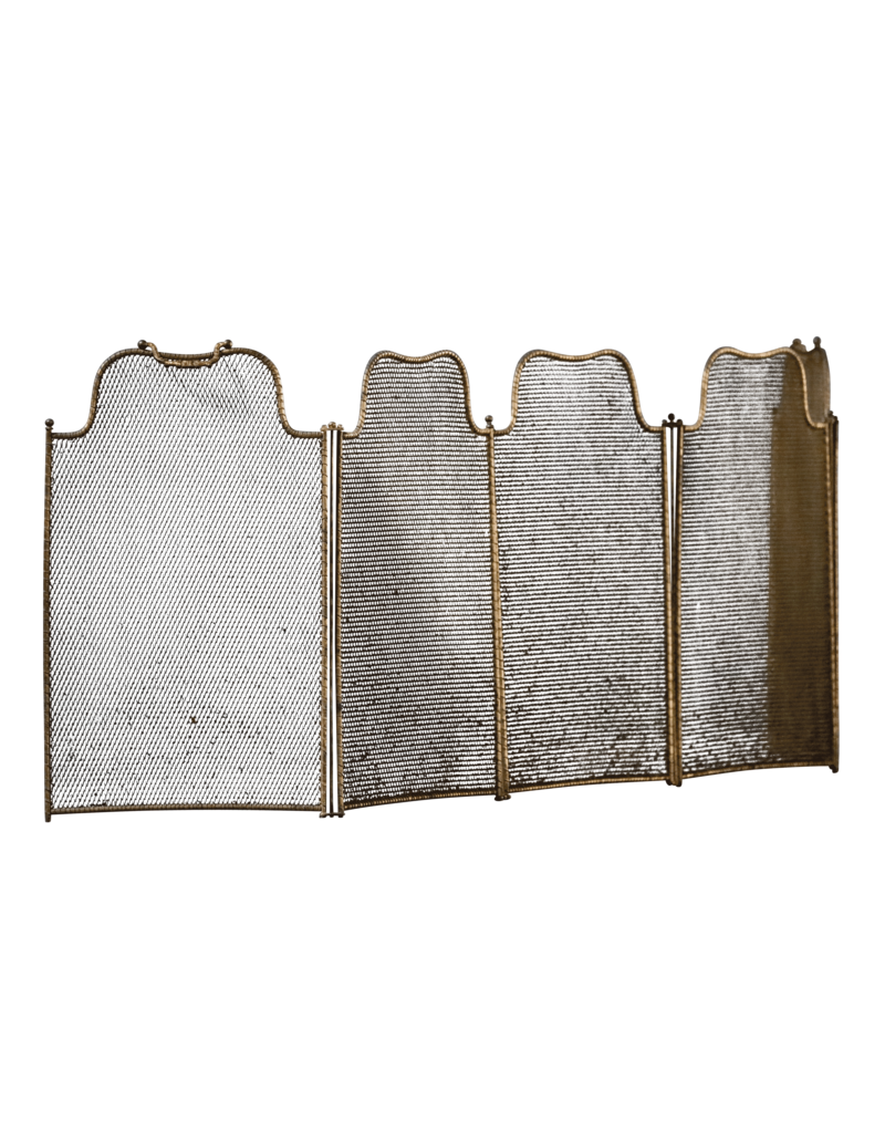 The Antique Fireplace Bank 5 Pannel Rustic European Fireplace Screen With Patina