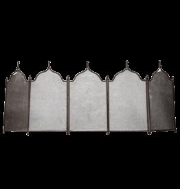 Pantalla De Chimenea Rústica De 5 Paneles