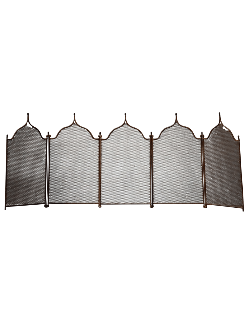 The Antique Fireplace Bank 5 Pannel Rustic Fireplace Screen