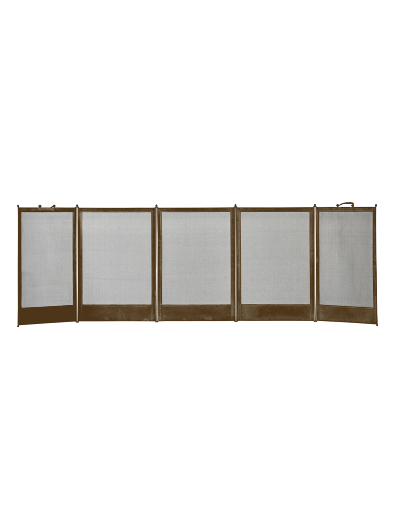 The Antique Fireplace Bank Fireplace Screen In Brass