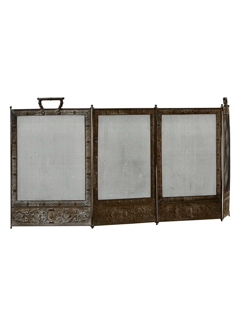 Fireplace Screen With Patina
