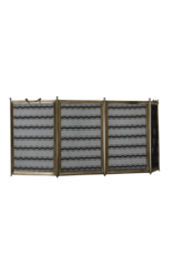 Französischer Kaminschirm mit gewebtem Faden