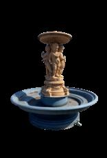 The Antique Fireplace Bank Monumentaler Zentralbrunnen aus Gusseisen