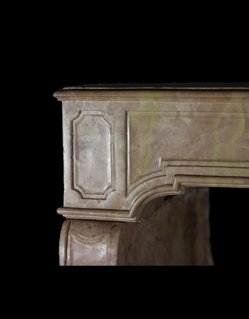 18th Century Rose Liseron Marble Stone Fireplace Surround