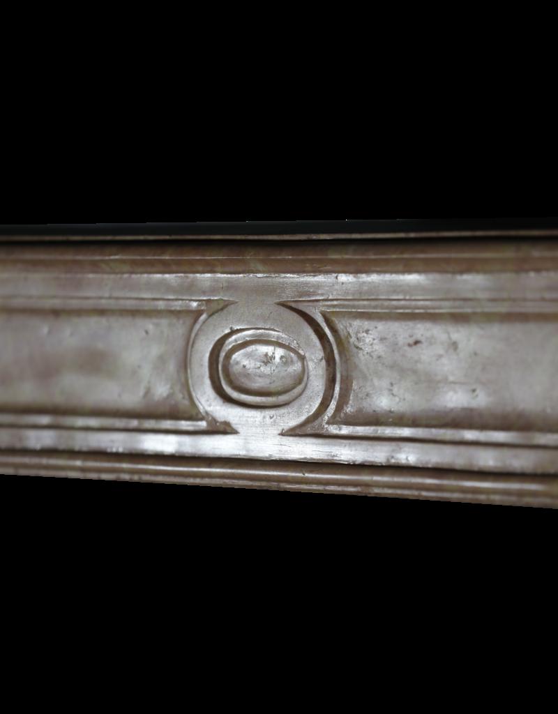 Chimenea De Piedra Mármol Rose Liseron Del Siglo XVIII
