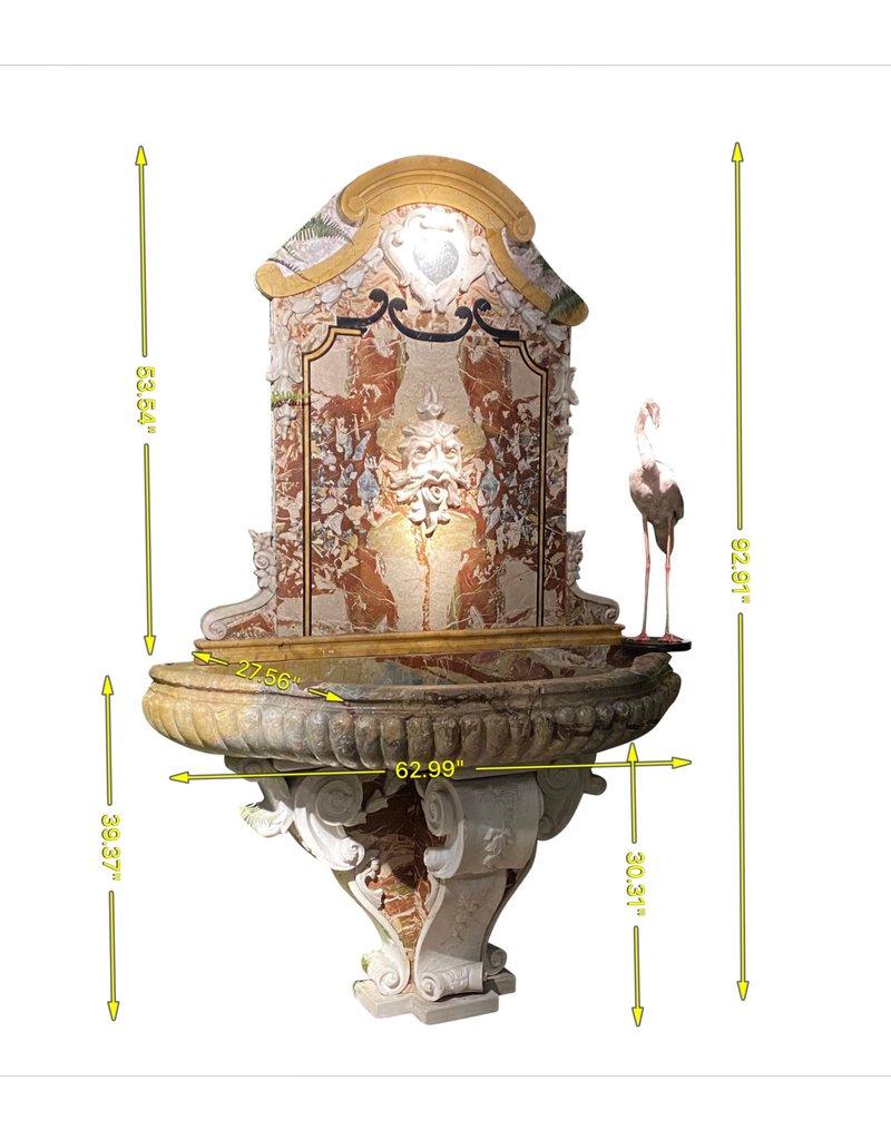 Paar Monumentaler Marmorwandbrunnen
