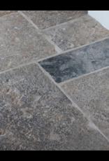 Französische Antiker Grauer Kalkstein Böden