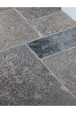 Reclaimed French Antique Grey Limestone Fossil Dalles