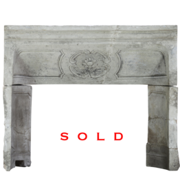 French Limestone Louis XIV Fireplace Surround Interior