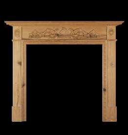 The Antique Fireplace Bank British Tallado De Madera De Pino Chimenea.