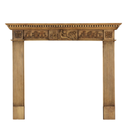The Antique Fireplace Bank Small English Pine Surround